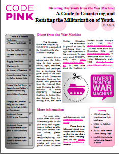 Divesting Our Youth from the War Machine: A Guide to Countering and Resisting the Militarization of Youth 2017-2018